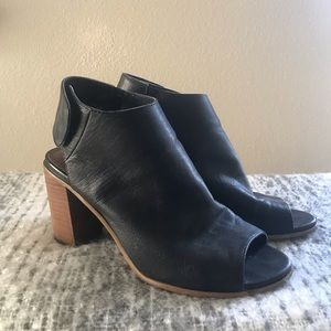 Steve Madden leather bootie heels